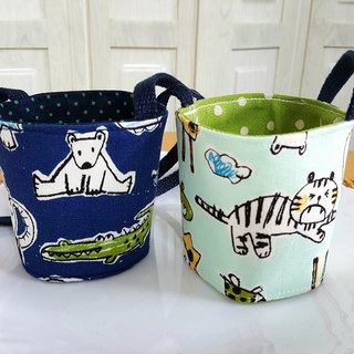 Animal Park Japan imported cotton ~ environmentally friendly portable bag / green cup / drink cup set