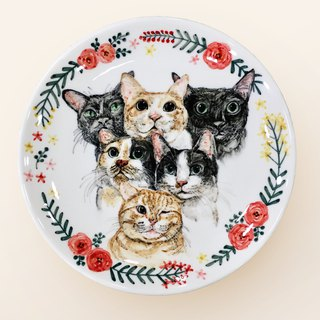 Hand-painted 8-inch cake pan - Dinner plate - custom exclusive custom patterns
