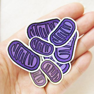 """Lifelong Learning Series"" - Mitochondria sticker pack (3pcs)"