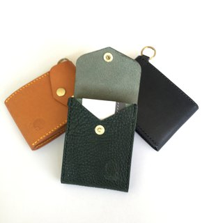 Unique taste vegetable tanned leather three layer business card bag / card holder / card holder / card holder / unique / multilayer / business