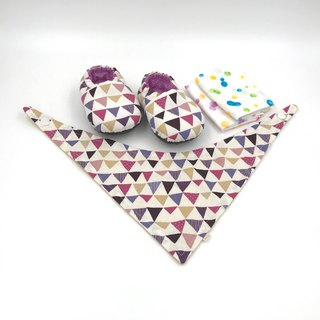 Purple flag - Miyue baby gift box (toddler shoes / baby shoes / baby shoes + 2 handkerchief + scarf)