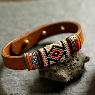 Aiko Beads Leather Bracelet