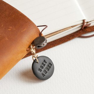 Customized lettering soft ceramic tag hand account log Traveler's Notebook pet tag