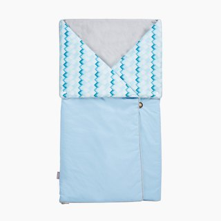 4-in-1 Swaddle Pouch & Blanket - Blue Building Blocks