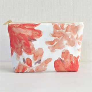 Bloom Flower Machi with Pouch Floral Pattern Orange