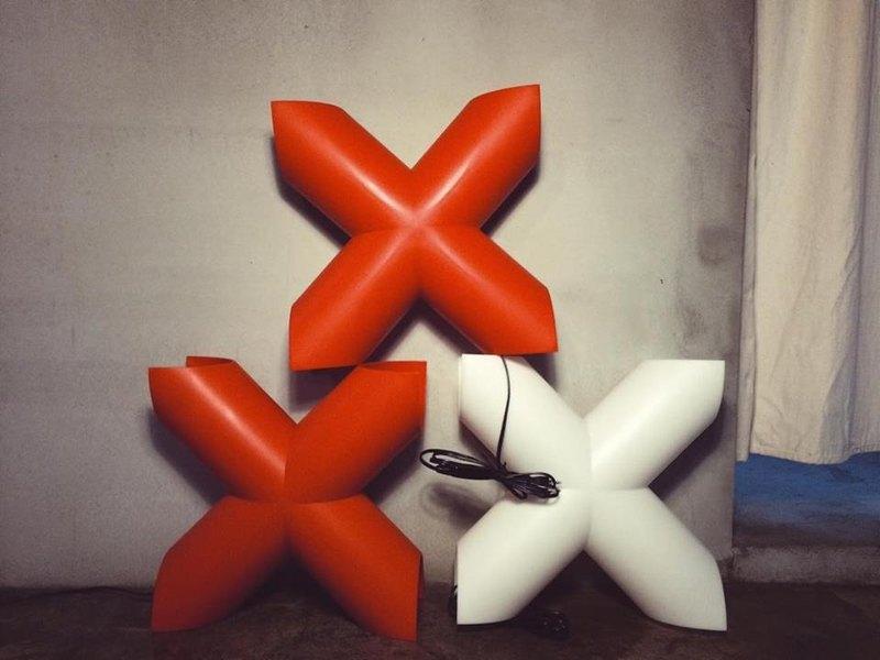 經典紅X    80~90摩登年代  x-lamp 早期外銷歐美日本