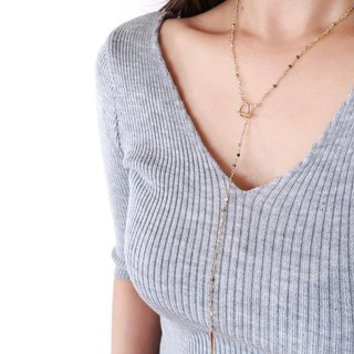 RUTILEQUARTZ ROSARY Y LONG NECKLACE
