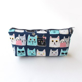 Illustrator wind cat pencil case (middle) / storage bag pencil case cosmetic bag