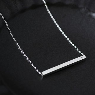 Minimal Bar Necklace Silver 925