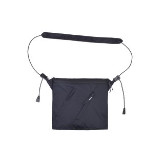 oqLiq - Project 06.2 - River sacoche bag Chuan word supply package (black)