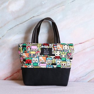 Cute emoticon print lightweight handbag