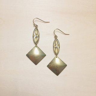 Vintage gray long glass earrings