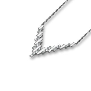 Multi Rectangle Diamond Necklace