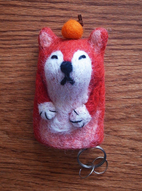 羊毛氈 手工製作 鑰匙套 鑰匙包 動物 狐狸