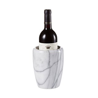 Natural marble ice wine barrel [American style bright surface] storage bucket / spatula chopsticks knife and fork storage / flower arrangement