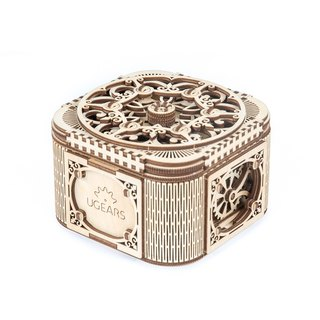 /Ugears/ Ukrainian Wooden Model Jewelry Box Treasure box