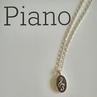 FUGUE Origin Second Waltz - Treble Clef Embossed Necklace