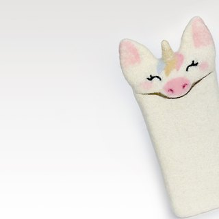iPhone 7, iPhone 7 Plus Unicorn case, wool sleeve, felted Unicorn