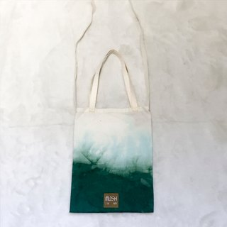 Mu Xu: hand-dyed green shoulder bag