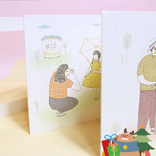 【The Happy Moments of being with You / Postcard with Frame】(5 themes of postcards in a set)【和你在一起的快樂時光 / 相框明信片】(五款明信片各1,共5張不同款明信片)