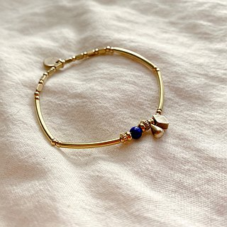 Art girls-Lapis brass bracelet