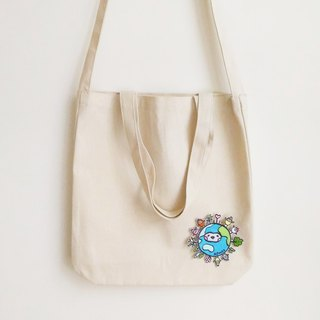 Earth Seeds (Small) Double Strap Canvas Tote Bag