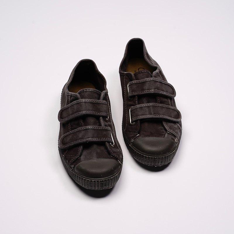 西班牙帆布鞋 CIENTA U78777 01 黑色 黑底 洗舊布料 大人 魔鬼氈