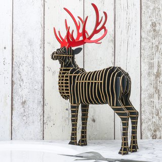 Adonis the Deer /Mobile phone holder/3D Craft Gift/Black