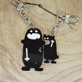 "【Peej】""Don't bite my ear!"" Double layered Acrylic key chains/necklaces"