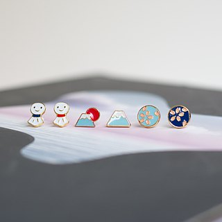 Japanese Impression Pin Earrings