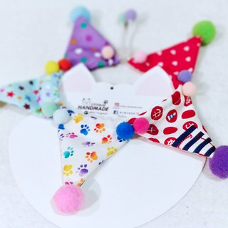 Clown colorful party scarf for pets