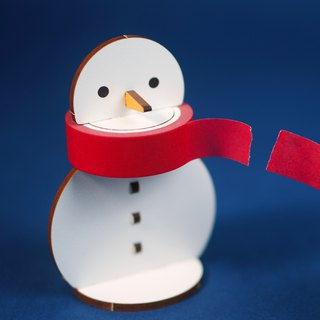 Scarf snowman - paper tape seat