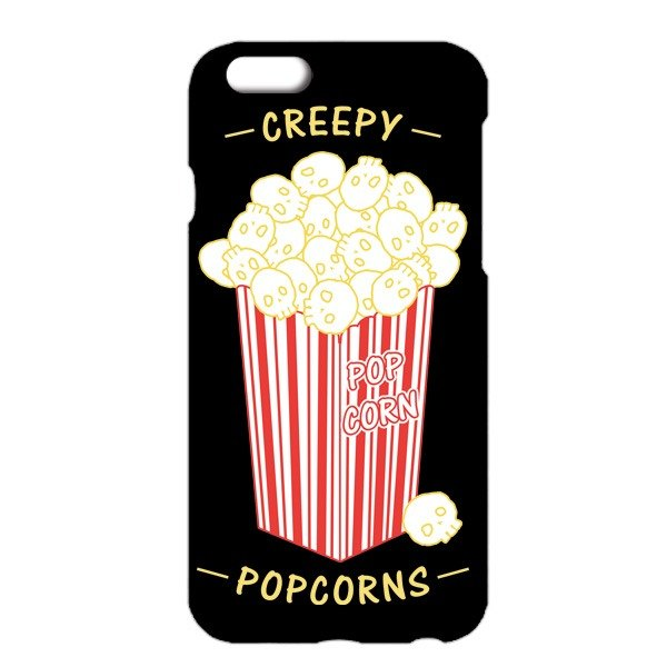 [IPhone case] Creepy Popcorns / black
