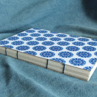 Blue and white pattern handmade book (Twelve petals)