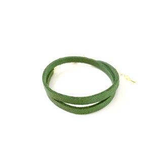 Green grass - suede roping bracelet (can also be used as a necklace)