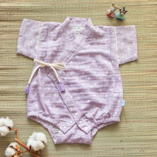 my little star - Staff hand-made hydrangea cotton organic cotton double yarn very flat kimono package fart clothing