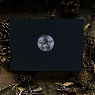 Planet series moon postcard