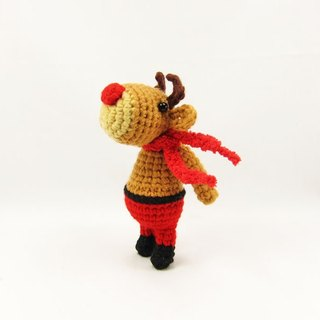 Red Nose Elk - Keyring - Christmas