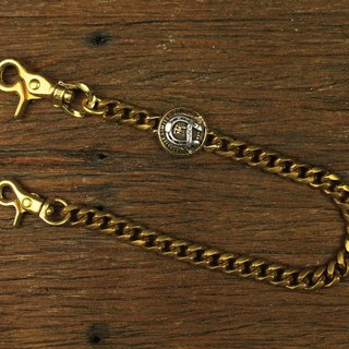 [METALIZE] carved hook rotating MT horseshoe waist chain