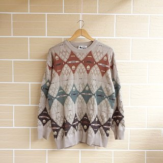 │Slow│ changing - vintage retro sweater │vintage neutral Arts Institute of wind....