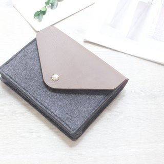 【Customizable】 Original handmade light gray felt Loose belt Camera bag Mouse bag Mouse bag Power cord bag Charger bag Charger Storage bag 3C Peripheral storage package Transmission line storage package (can be tailored) - 124