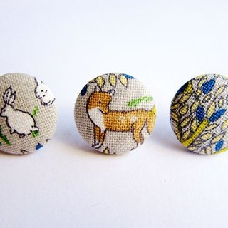 Cloth buckle earrings Mix & Match forest animals do mash Clip Earrings