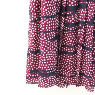 Vintage Dotted Clouds Red Short Sleeve Vintage Dress Vintage Dress