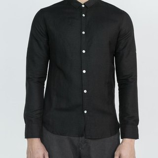 Convertible Collar Linen Shirt