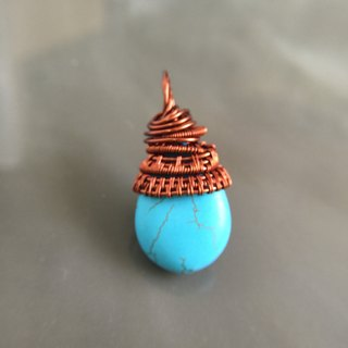 Pineapple Bach turquoise necklace strap