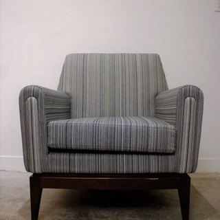 Old Chair, Newborn Man, Blue Striped, Single Pointer Sofa