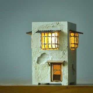 Old mottled hut lighting