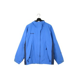 Back to Green :: Windbreaker Cotton Jacket Columbia Dodge Blue // Unisex // vintage outdoor (CO-12)