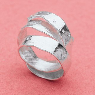 Apple peel adjustable silver ring - Japanese fruits - Apple curling skin