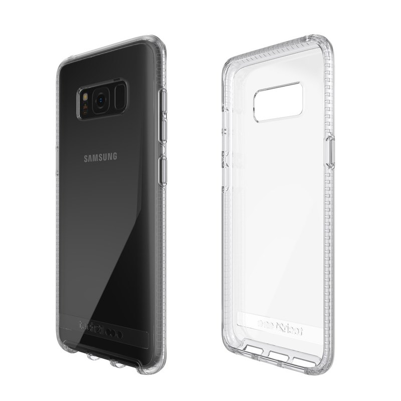 Tech21 UK Shockproof Pure Clear Samsung S8 Crusher Hard Cover (5055517375818)